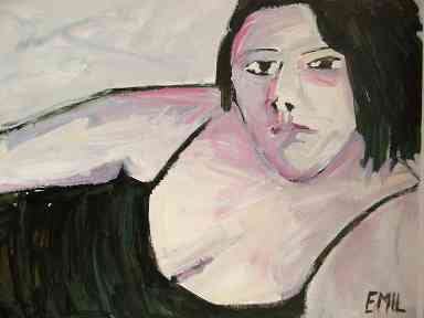 portrait plump woman